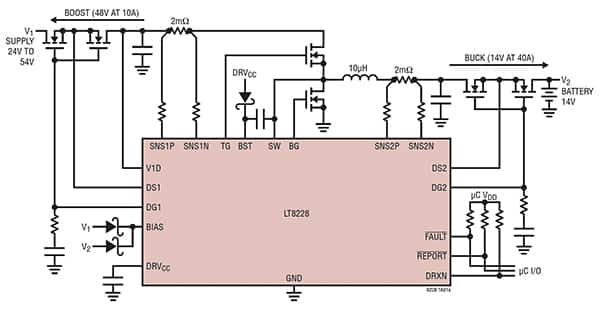 Diagram of Linear Technology LT8228 bidirectional power supply